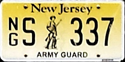 New Jersey National Guard Air Army License Plate