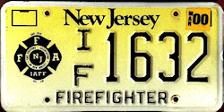 New Jersey Firefighter IAFF License Plate