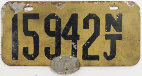 New Jersey License Plate 1905