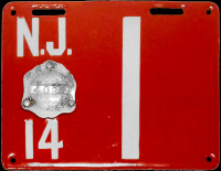 New Jersey License Plate 1914