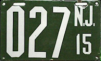 New Jersey Temporary License Plate