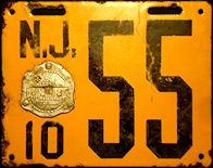 New Jersey License Plate 1910