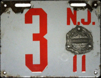 New Jersey License Plate 1911