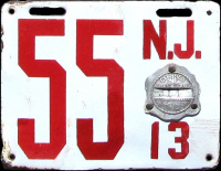 New Jersey License Plate 1913