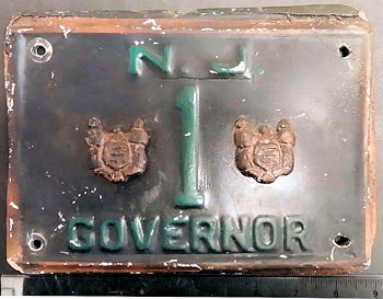 New Jersey Fake License Plate Governor