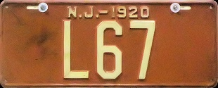 New Jersey Livery License Plate