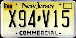 New Jersey Commercial Truck License Plate 2000