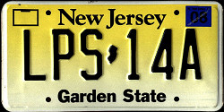 New Jersey License Plate 2002