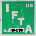 New Jersey Fuel Tax IFTA Sticker