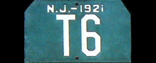 New Jersey Trailer License Plate 1921