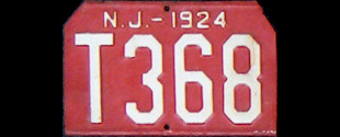 New Jersey Trailer License Plate 1924