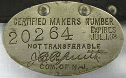 New Jersey License Plate 1908