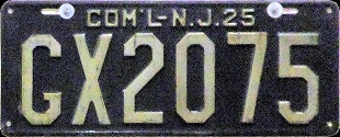 New Jersey Government License Plate