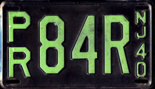 New Jersey License Plate 1940