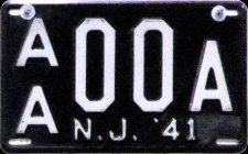New Jersey Sample License Plate