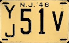 New Jersey License Plate 1948