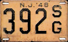 New Jersey State Government License Plate