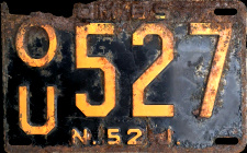 New Jersey Omnibus OM'BS Bus License Plate