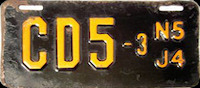 New Jersey Motorcycle Dealer License Plate 1954