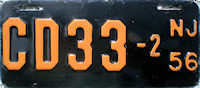 New Jersey Motorcycle Dealer License Plate 1956