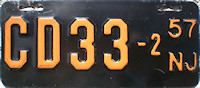 New Jersey Motorcycle Dealer License Plate 1957