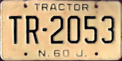 New Jersey Tractor License Plate
