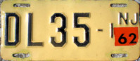 New Jersey Motorcycle Dealer License Plate 1962