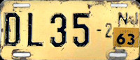 New Jersey Motorcycle Dealer License Plate 1963