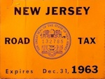 New Jersey Road Tax Sticker