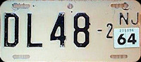 New Jersey Motorcycle Dealer License Plate 1964
