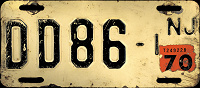 New Jersey Motorcycle Dealer License Plate