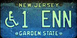 New Jersey Handicapped Wheelchair License Plate