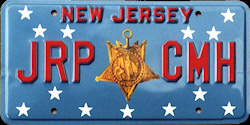 New Jersey Congressional Medal of Honor License Plate
