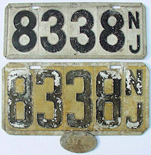New Jersey License Plate 1904
