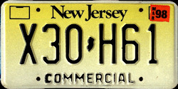 New Jersey Commercial Truck License Plate 1998