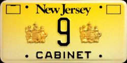 New Jersey Cabinet License Plate