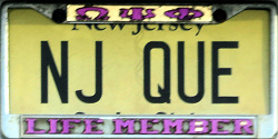 New Jersey Omega Psi Phi License Plate