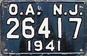New Jersey License Plate Outdoor Advertising OA Sign Permit