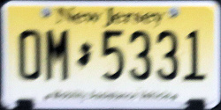 New Jersey Mobility Assistance Vehicle License Plate