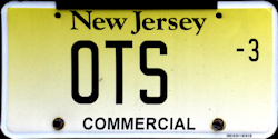 New Jersey Commercial Truck License Plate