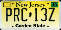 New Jersey License Plate 2004