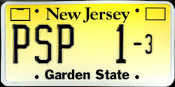 New Jersey Courtesy License Plate