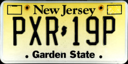 New Jersey License Plate 2005