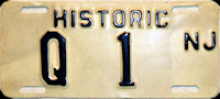 New Jersey Historic Motorcycle License Plate