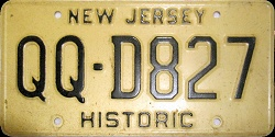New Jersey Historic Antique QQ License Plate