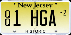 New Jersey Historic Antique QQ Courtesy License Plate