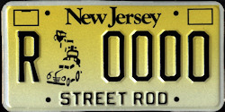 New Jersey Street Rod Historic License Plate