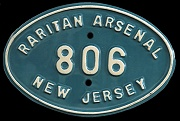 New Jersey License Plate Military Raritan Arsenal