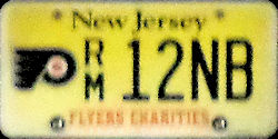 New Jersey Sports License Plate FLYERS