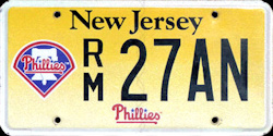 New Jersey Sports License Plate PHILLIES
